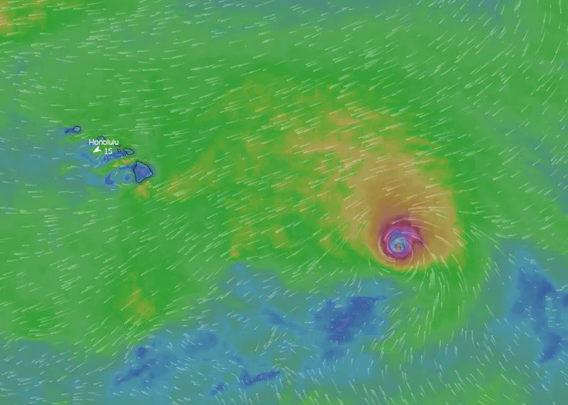 Image for the Tweet beginning: #HurricaneDouglas, one of the MANY