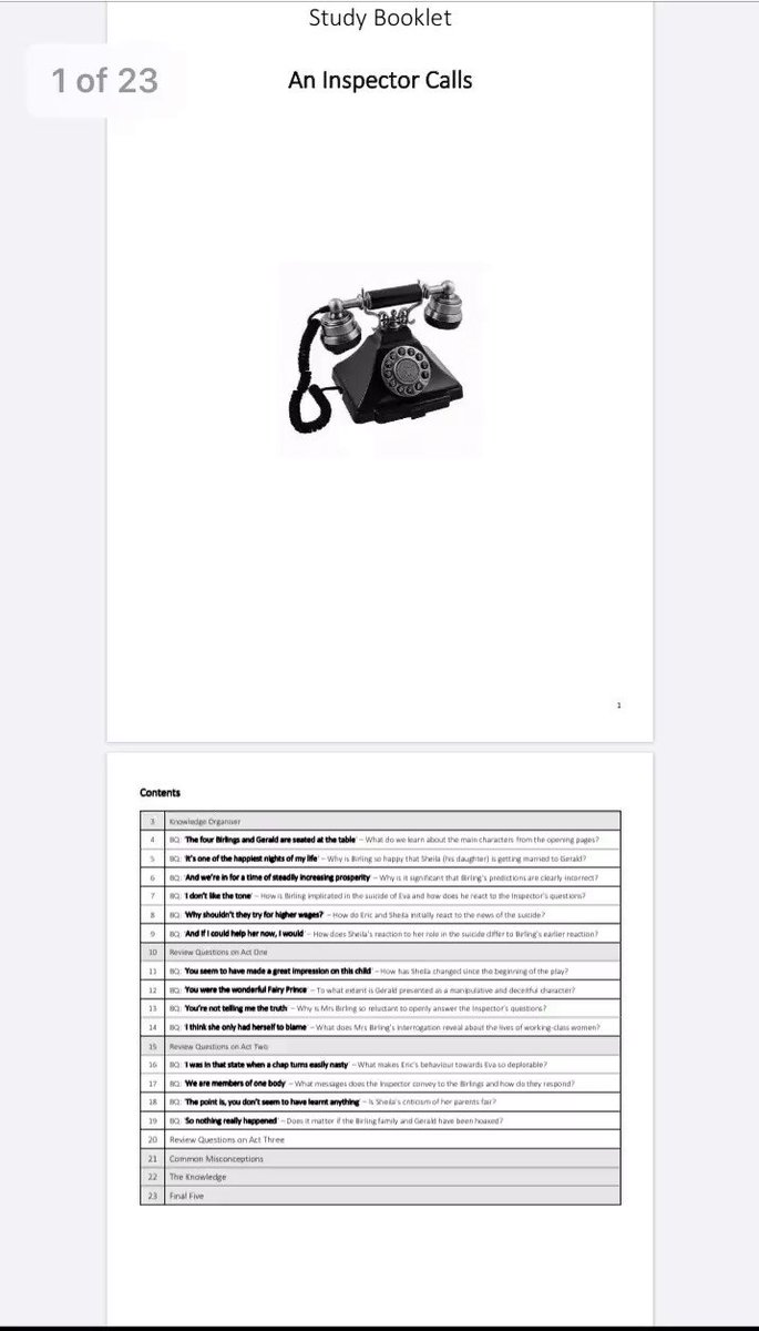 Study booklet on An Inspector Calls >> douglaswise.co.uk/study-booklet-… #TeamEnglish