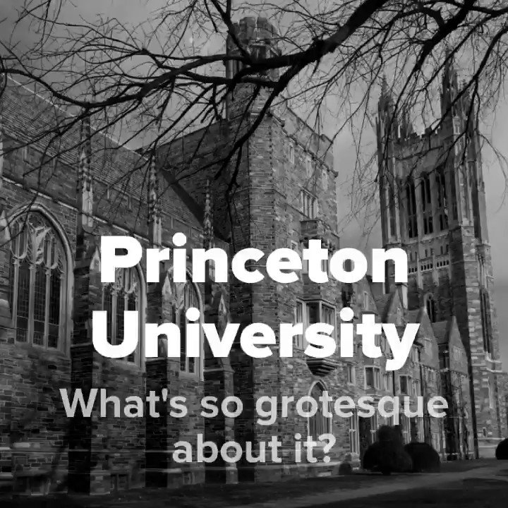Image for the Tweet beginning: Princeton University? Grotesque?  See for