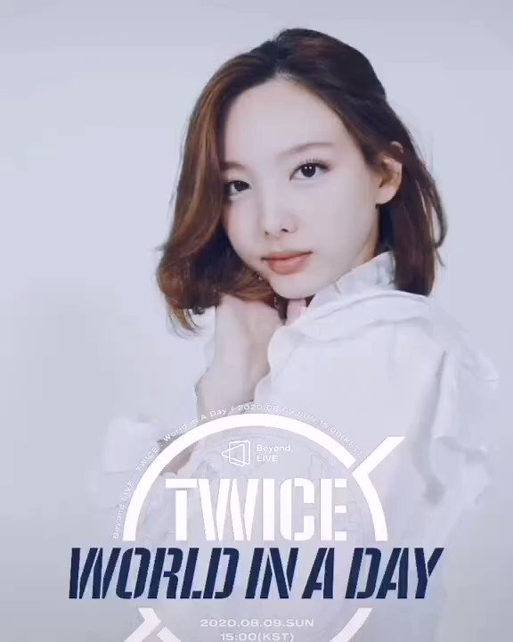#VIDEO[24.07.20]🍭  TWICE ONLINE CONCERT  Beyond LIVE - TWICE: World in A Day    Moving Poster  NAYEON . . . . . #TWICE #MOREANDMORE #FANFARE #ONCE #TWICEJAPAN @JYPETWICE https://t.co/z2yCTSGeyZ