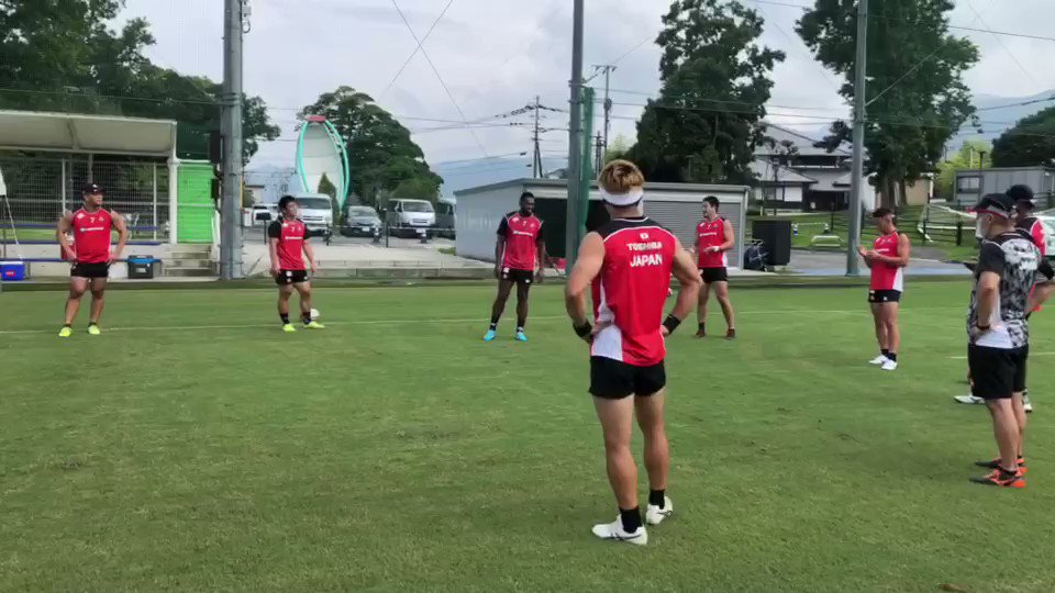 Were loving the new and unique ways our sevens are bringing their training sessions to a close! 😂👏 Itll be a while until we huddle and high-five again, but at least the boys are making the best of it 💪🌸 #Japan7s #Tokyo2020