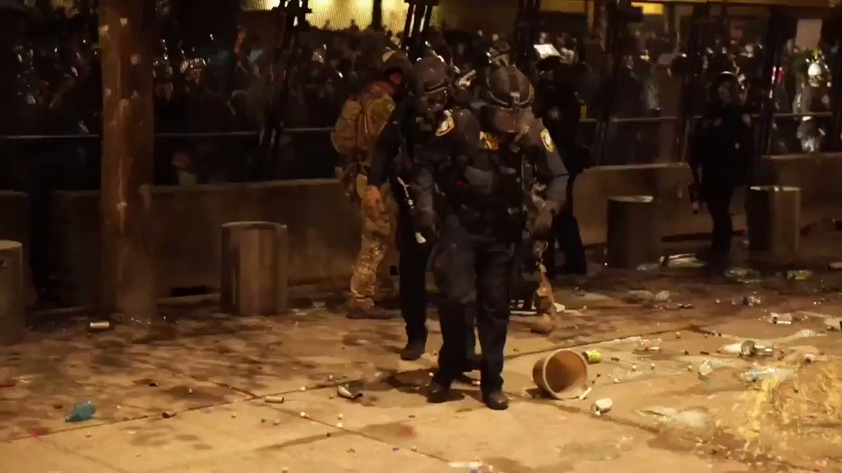 Peaceful crowds don't commit federal crimes. 20 injuries to federal officers in Portland this past weekend.