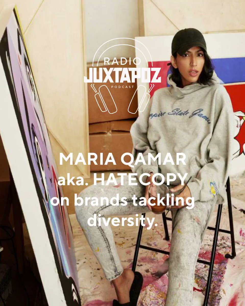 Our newest #RadioJuxtapoz podcast, episode 50, has dropped!!! Today our guest is the amazing Toronto-based artist #HateCopy ! We talk about Desi culture in the West, exploring that culture in contemporary art and K-Pop burner accounts https://t.co/GtHti2eVul https://t.co/FPCyDY6dLB