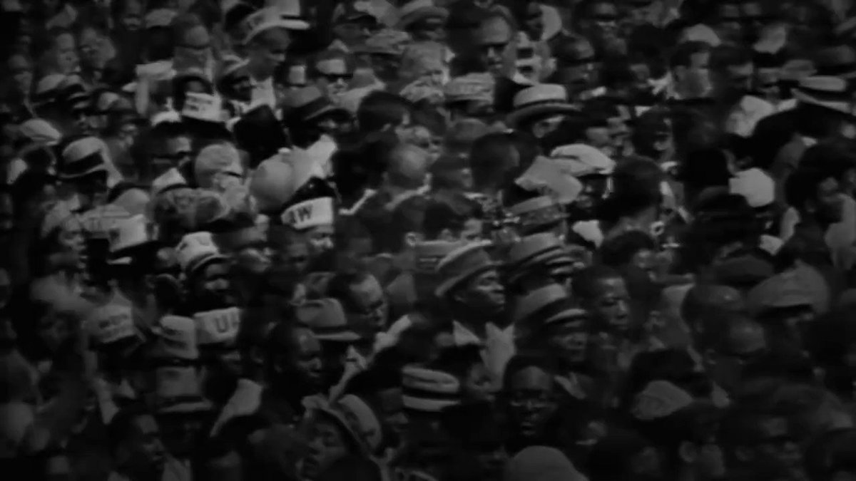 Congressman John Lewis was a Freedom Rider, a civil rights champion, and a true American hero. Today we honor his legacy with a look back at his historic speech at the 1963 March on Washington → https://t.co/HdYu7TZxlB https://t.co/vlCLz7G0kX