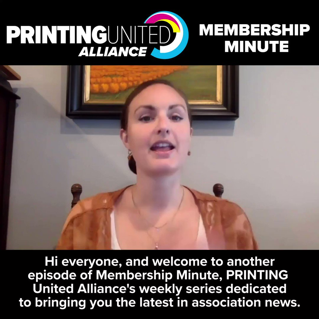 Image for the Tweet beginning: PRINTING United Alliance is excited