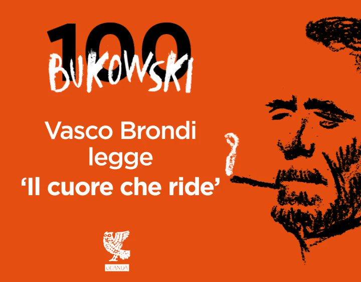 """#Bukowski100 Il nuovo video realizzato per #Bukowski100 - il percorso che ci porterà, il prossimo 16 agosto, a celebrare i 100 anni dalla nascita del poeta e scrittore Charles Bukowski - è del cantautore, musicista e scrittore @vasco_brondi che ci legge """"Il cuore che ride"""". https://t.co/b81qZ7UMzQ"""