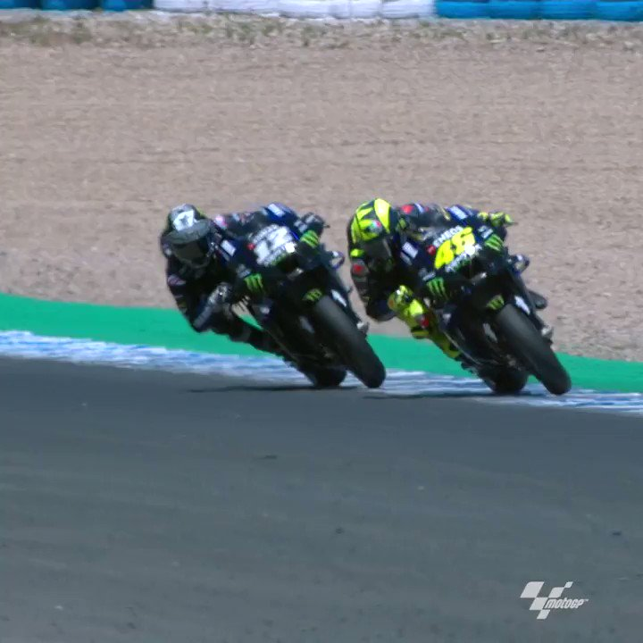 A #WheelieWednesday-worthy performance from @ValeYellow46 🤩  He's still got it! 💪   #MonsterYamaha | #MotoGP | #AndaluciaGP | #RacingForThem | @MotoGP https://t.co/V0eGBdgqQG