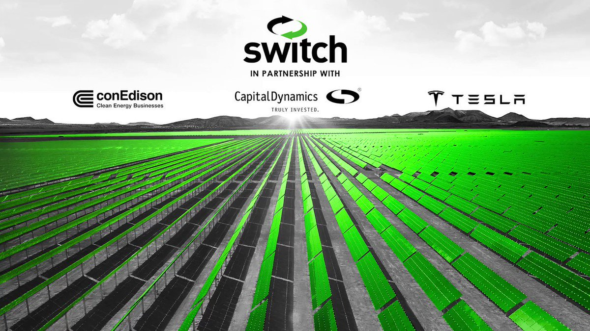 Image for the Tweet beginning: Gigawatt 1® advances @Switch Founder
