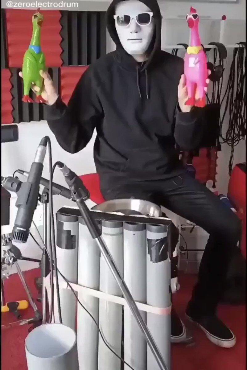 あのふざけたニワトリでこんな格好いい演奏が出来るなんて…!zeroelectrodrumTik Tok Instagram You Tube