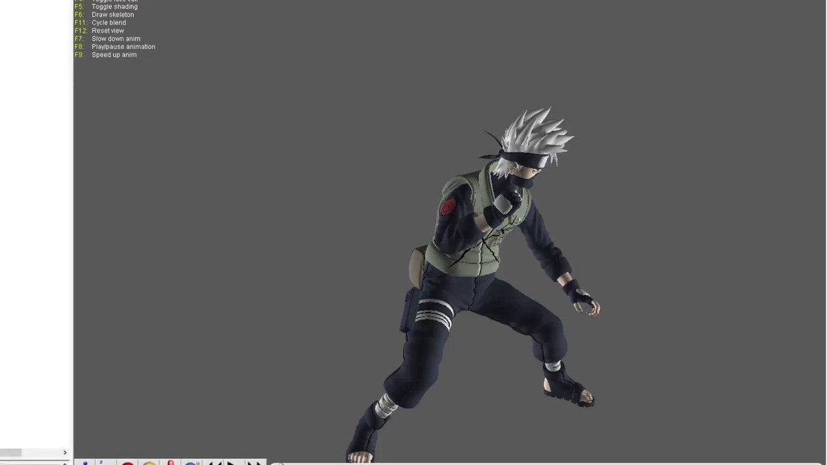 The animation of the new scientific ninja tool 'Raiton Shiden'