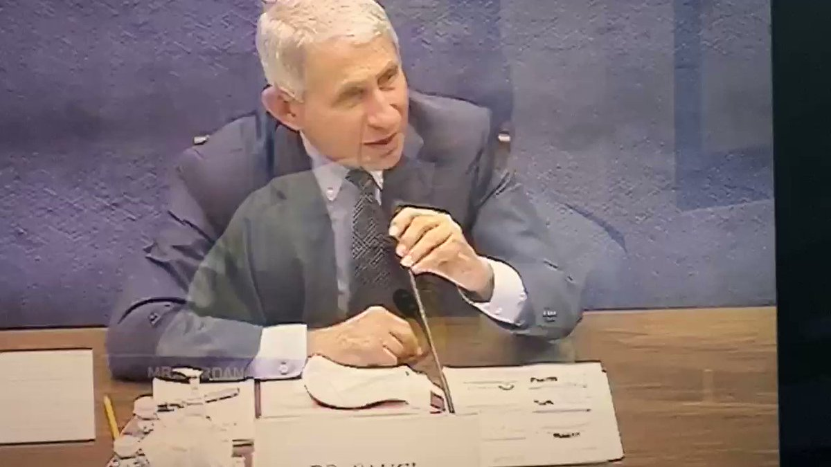 """Jim Jordan: """"Should we limit the protesting?""""  Fauci looks stunned by the question. https://t.co/RG3rmfY59m"""
