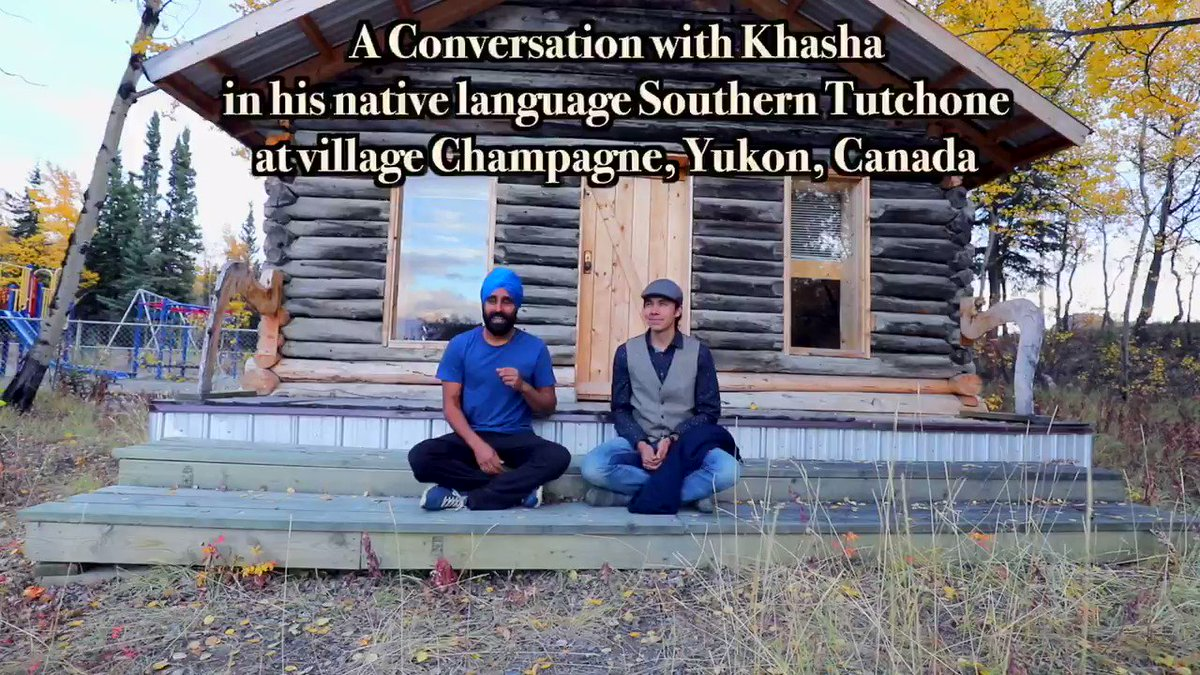 A conversation with Khasha in his native language Southern Tutchone. He also inspired me to speak in my native language, Punjabi. There was a geographical difference of half a globe, but ancestors of Khasha and I had the same colonizers. Full video: https://t.co/QvGpEcHiV0 https://t.co/DjKSnYE0xe