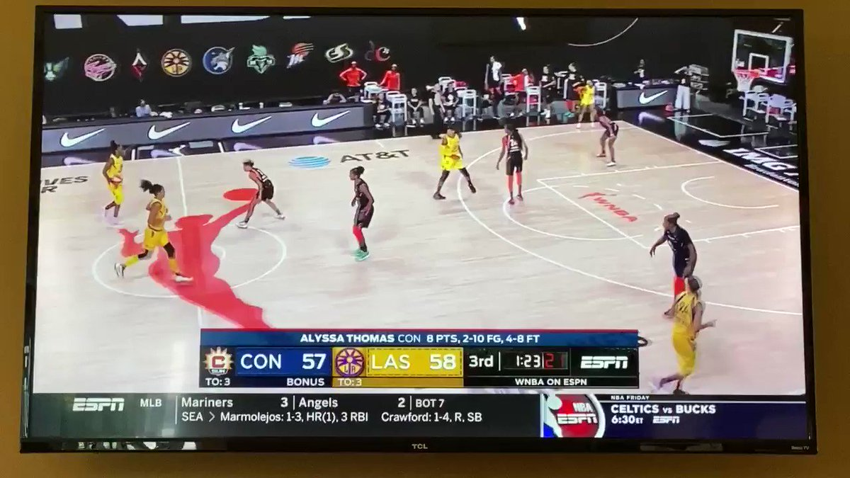 @seimoneaugustus draining this 3 and making Curt Miller combust on the sideline is the energy we need in 2020 @LASparks #WNBA https://t.co/P6RxuupIn1
