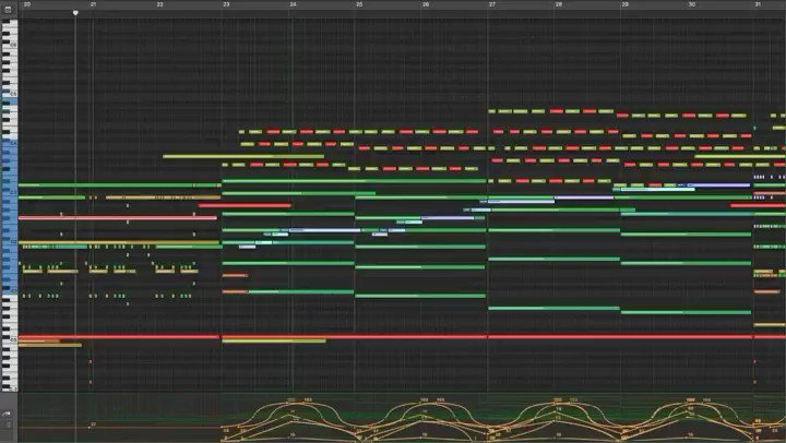 """Inside the Cue Friday! Here's a big orchestral film cue I wrote this week. I love using these kinds of chord progressions, they just scream """"CINEMATIC"""".  . . . . . #filmmusic #filmcue #filmcomposer #filmscore #composer #soundtrack #moviemusic #orchestra #epic #music #filmpic.twitter.com/wUEEU14yXR"""