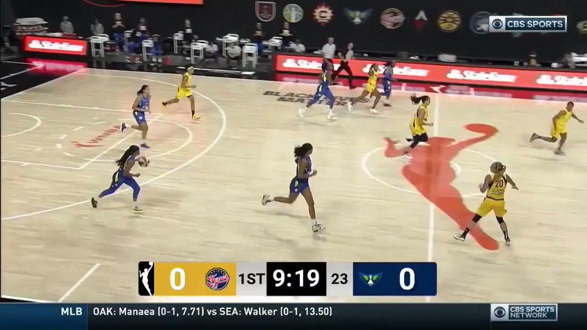 .@satou_sabally BALLED OUT with 23 PTS & 17 REB 🔥 #ATTtipoff  She is the 1st rookie in @DallasWings franchise history to score 20+ points and grab 15+ rebounds in a game! #WatchMeWork https://t.co/Oo8DFV738t