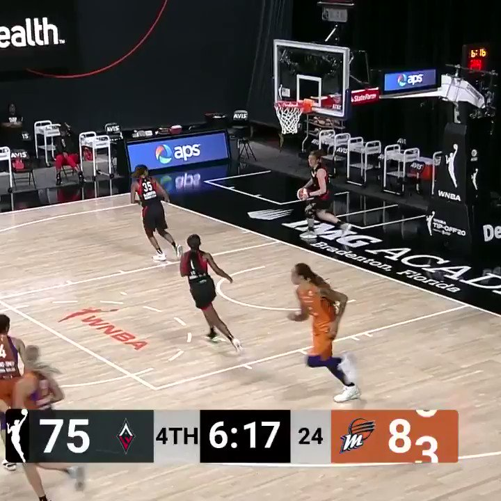 .@SkyDigg4 with the hustle play for the @PhoenixMercury bucket AND the foul 😤 #ATTtipoff   100-90 lead for PHX in the 4th quarter with 1:14 left on @CBSSportsNet. https://t.co/m8gom1snxf