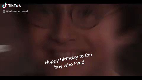 Happy birthday to Harry Potter the boy who lived