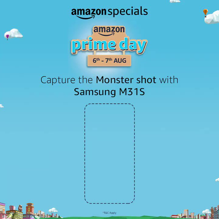 #ContestAlert - Capture the Monster shot! Use #AmazonPrimeDay and #AmazonSpecialsSamsungM31S and 5 lucky winners will win the Samsung M31S.  T&C - https://t.co/3tkYdEMWCz https://t.co/TkMtoKkeK6