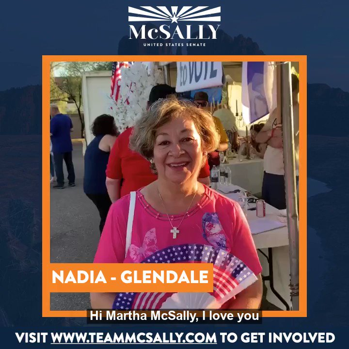 Arizonans like Nadia are fired up for this election. Nadia, I hope I get to meet you soon!
