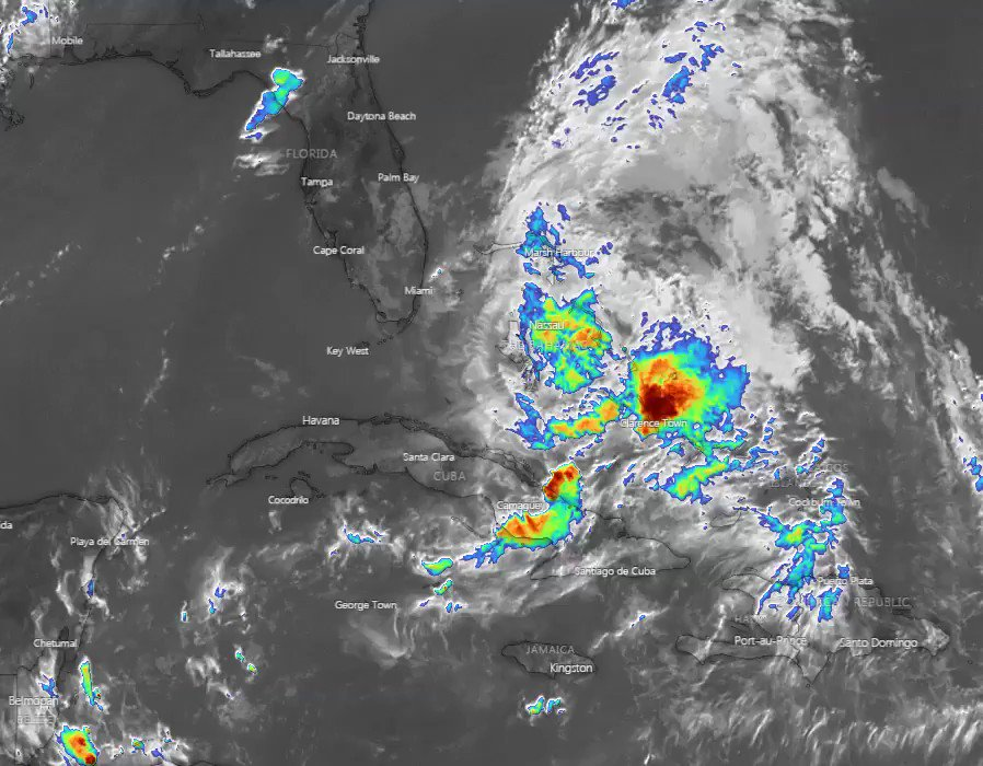 "Image for the Tweet beginning: Tropical Storm Isaias, called ""Harp"""