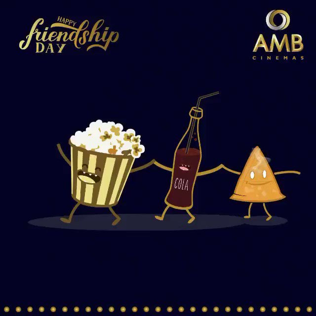 Just like popcorn, cola, and samosa stay together as our tastiest snacks, we wish you and your friends stay together forever! AMB Cinemas wishes everyone a Happy Friendship Day!😃 #Friends #BestFriends #HappyFriendshipDay #SaathRahengeHamesha #AMBCinemas