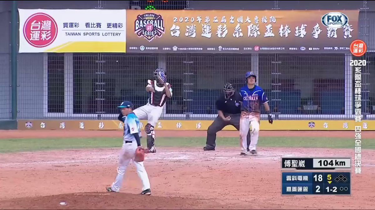 That's an interesting strikeout call from Taiwan's College Baseball Series. #UmpGifs 🧐😅