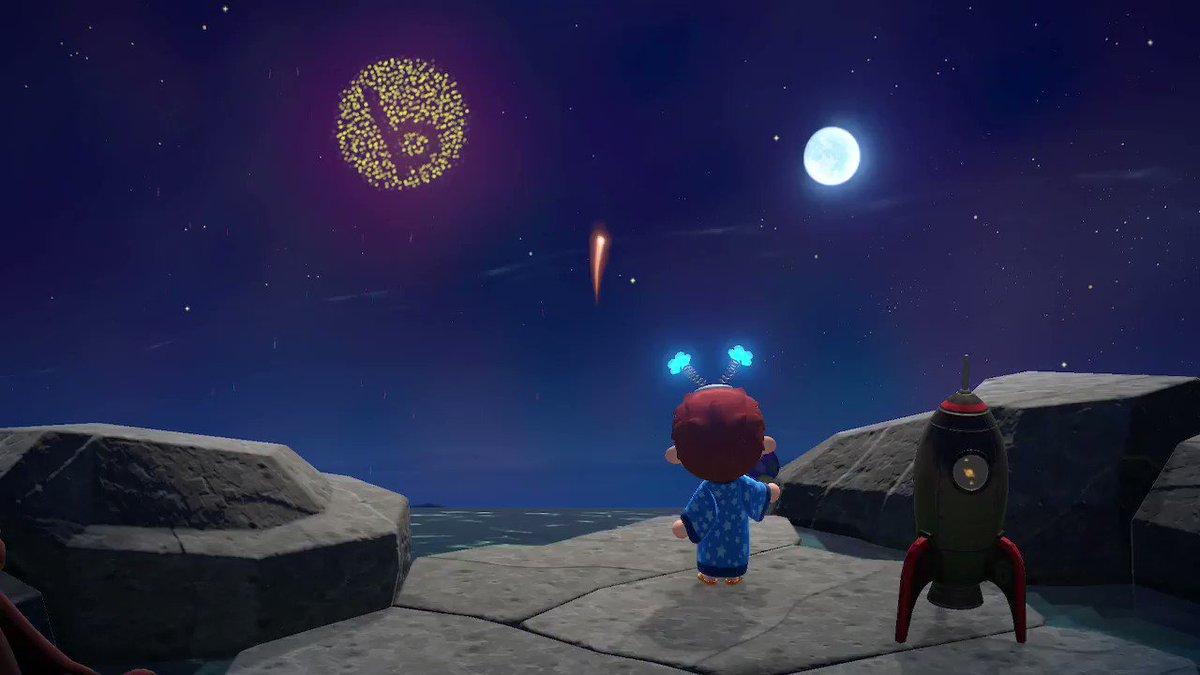 ユーザーさんがbosyuのbロゴ花火上げてくれたからみて!かわいすぎる😍#どうぶつの森 すごい!!
