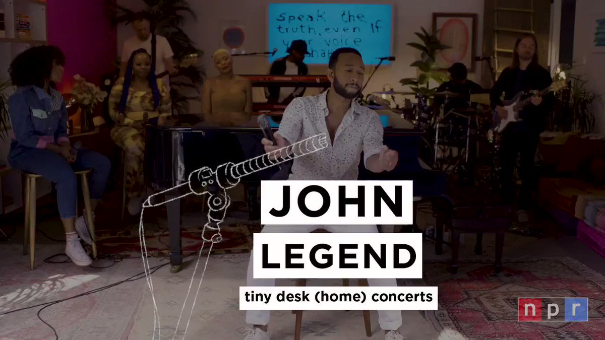 Well be premiering @johnlegends Tiny Desk (home) concert tomorrow, Monday, Aug. 3, at 10 a.m. ET on our YouTube channel. Watch with us at youtube.com/nprmusic.