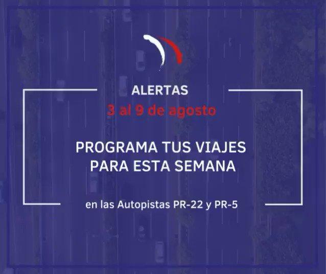 Image for the Tweet beginning: Vea las ALERTAS de esta
