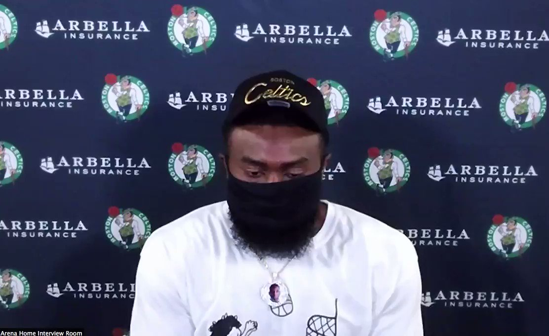 """Jaylen Brown says hes proud of the NBA for allowing players to take a knee + notes the national anthem was written by a slave owner and the third verse also references slavery: """"Racism is so deeply embedded in our country that people don't even flinch or even shift at the idea."""