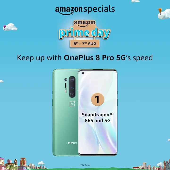 #ContestAlert: Can you name One Plus 8 Pro 5G specs in the particular order? If yes, then One Plus 8 Pro 5G is waiting for you. Participate to win the phone & make sure you remember to tag @amazonin, use #AmazonPrimeDay #AmazonSpecialsOnePlus8Pro5G  T&C - https://t.co/529Y88rsiw https://t.co/ZIfohoquxj