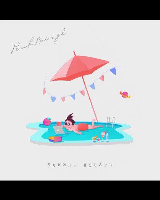 🧑🏾🦱gbリリース情報🍑プロデューサー/トラックメーカーの@peachboi_boi くんとコラボしました‼️3日後に配信スタート‼️これからの季節にピッタリよ🥺ワクワクドキドキ楽しみにしておくれ🙏2020.08.05(wed)Peach Boi & gb - Summer Escape