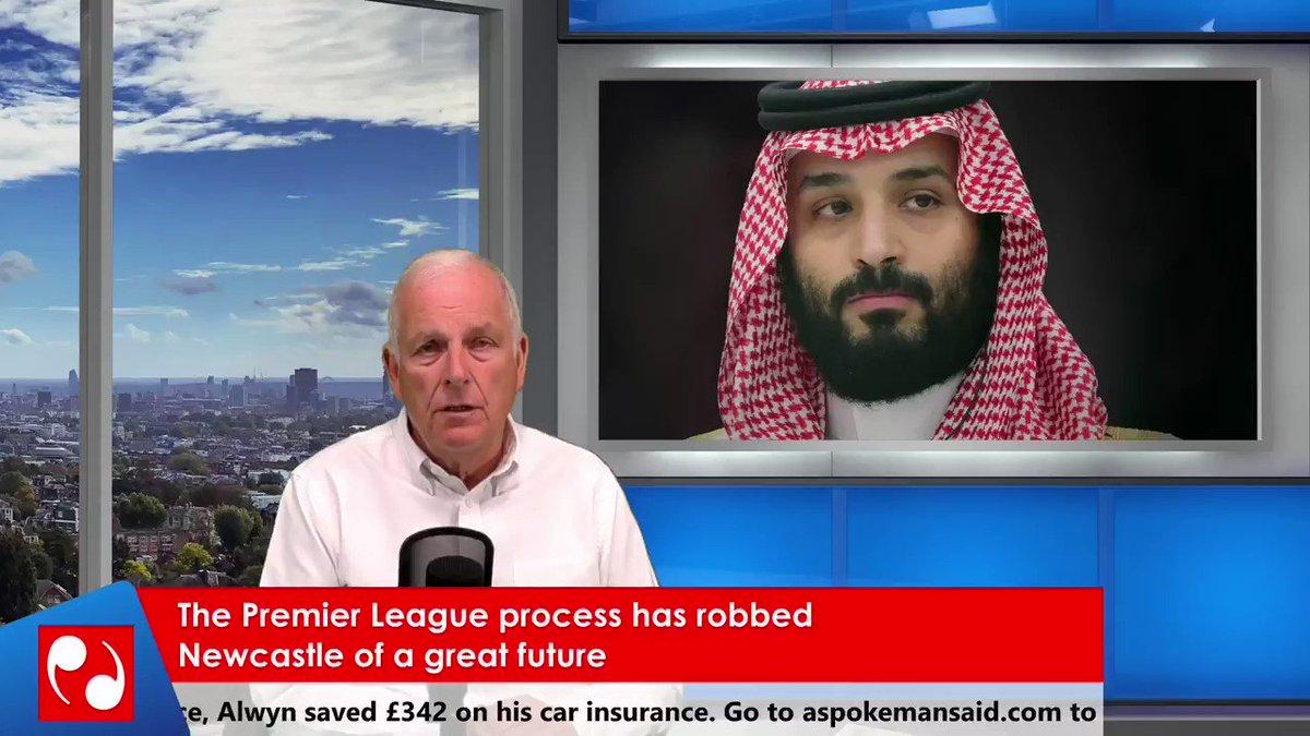 The Premier League process has robbed @NUFC of a great future. A Spokesman Said TV @kelvmackenzie #SaudiArabia #NUFC #NUFCTakeover #MikeAshley #PremierLeagueAreCorrupt #PremierLeague