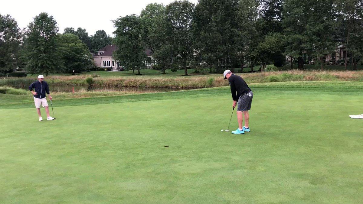 Image for the Tweet beginning: The winning putt! Caleb Wittig,