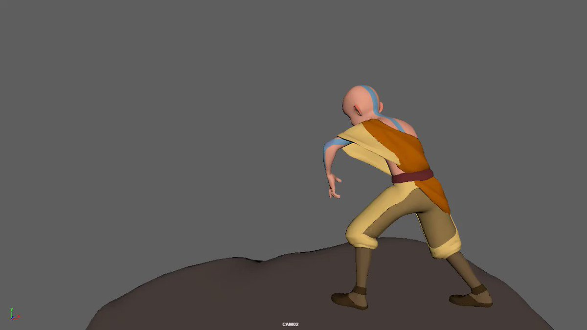 Cool tricks, but make it goofy -------- The instant that I saw that new Ari rig, I just haaaad to play around with it! Please excuse my lack of actual effects hehe Aang rig by @rigstation #animation #3danimation #characteranimation #Avatar #AvatarTheLastAirbender #Aang