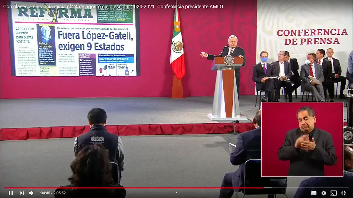 Image for the Tweet beginning: 🔴 El Presidente #AMLO expresó
