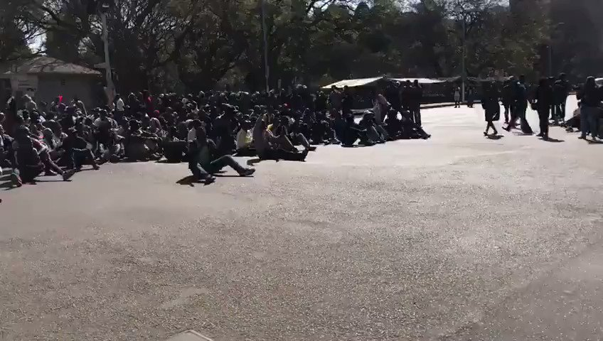 This is what the regime does when we protest in peace.  #ZimbabweanLivesMatter https://t.co/t9dhGZD2hY