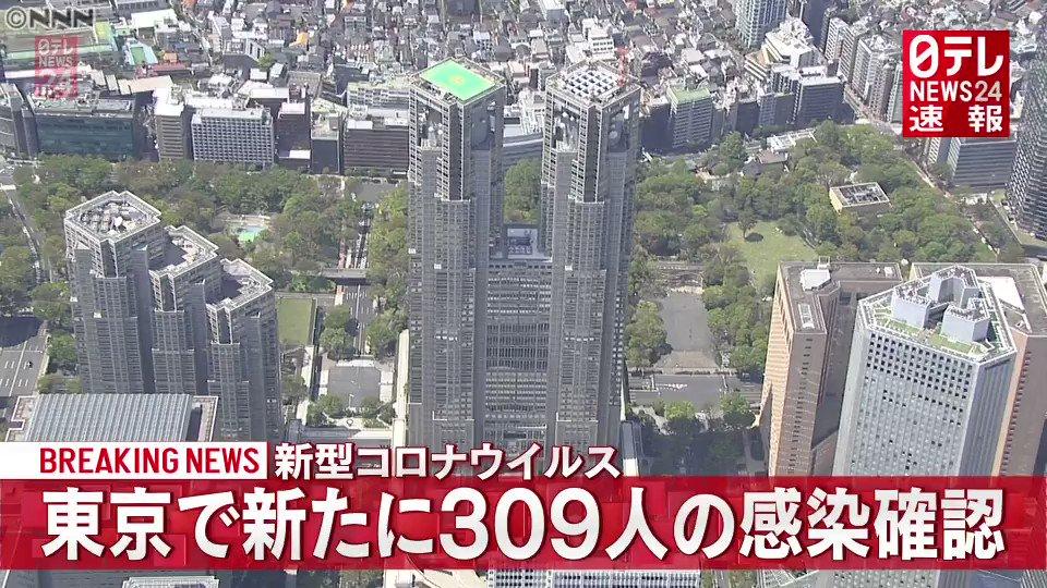 【速報】東京都 新たに309人感染確認東京都内できょう新たに309人が新型コロナウイルスに感染していたことが分かりました。東京都での新規感染者...推移は?▼#309人#東京309人