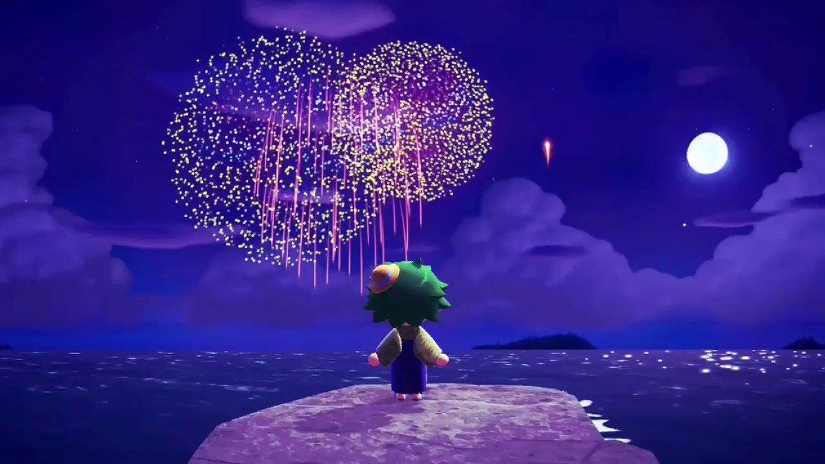 ぴえんの花火上げてみた🥺🥺🥺#あつまれどうぶつの森