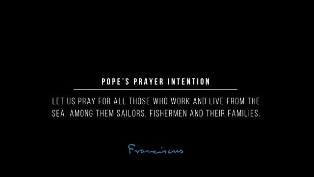 How important the work of sailors and fishermen is! @Pontifex invites us to pray for them and their families. #ValuePeople #ThePopeVideo #PrayForSeafarers @VaticanIHD @StellaMarisOrg