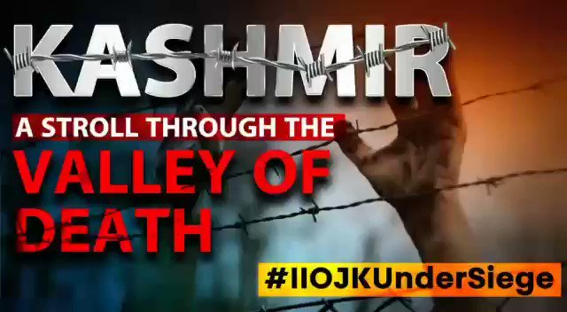 Revocation of Article 370 on Aug 5, 2019 by India has turned IIOJK - (Indian Illegally Occupied Jammu and Kashmir) into an open-air prison, & it has been under military siege for 365 days. 8 million people are suffering with no human rights. Raise your voice for #IIOJKUnderSiege https://t.co/xdN2mcETaD
