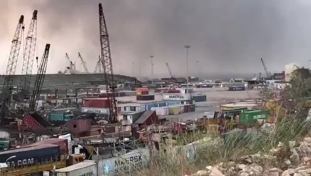 The port of #Beirut has been completely destroyed in today's massive explosion. This is #Lebanon's main economic lifeline.  The economic crisis in our country - already worsened by US sanctions - is about to get much worse. https://t.co/vxycOYVrCm