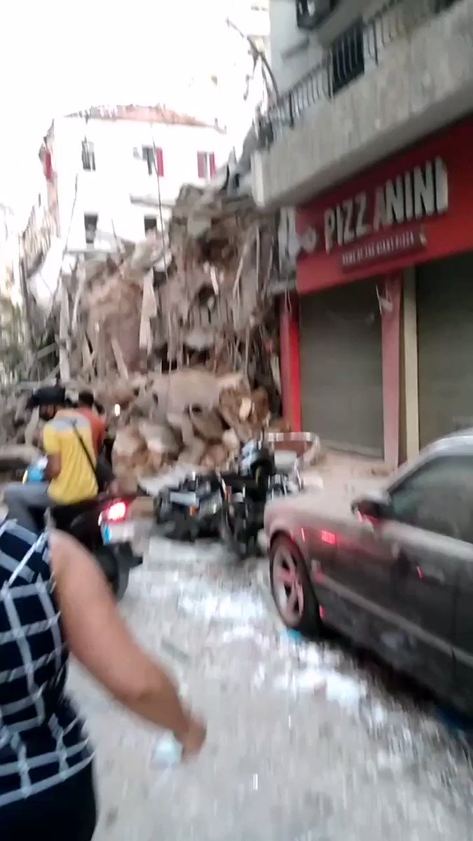 Image for the Tweet beginning: Reports of collapsed buildings in