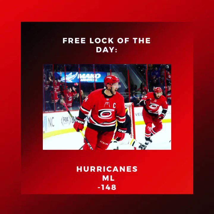 🚨 HOCKEY LOCK OF THE DAY 🚨  #nhl #hockey #hurricanes #hurricane #ice #bets #bettingexpert #betting #bet #freebets #freebet #ESPN #nbc #nbcsports #NBC4NY #nbcnewsthreads #nbcnews https://t.co/TIpvufeUlX