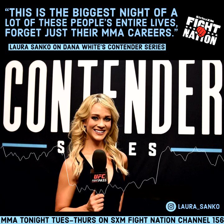 """🔊 """"It's a pressure cooker,"""" @laura_sanko talks to @RJcliffordMMA & @jimmysmithmma about the emotions involved with #DWTNCS for both herself and the fighters. 👊 https://t.co/NFyAiGap8h"""
