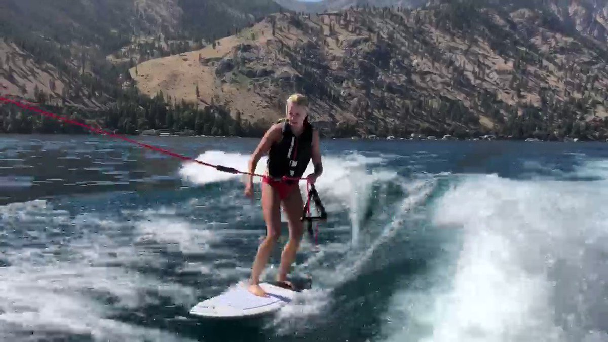 @barstoolsports 🏈 now playing wide out. Thanks for the pass @JungleBri #lakechelan #chelan #summer2020
