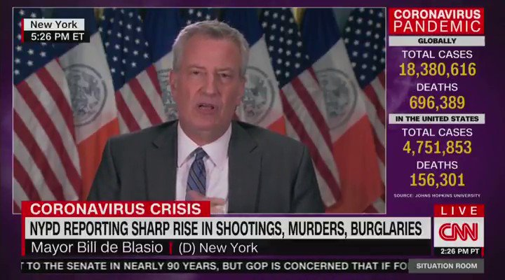 "Image for the Tweet beginning: Bill de Blasio: ""I may"