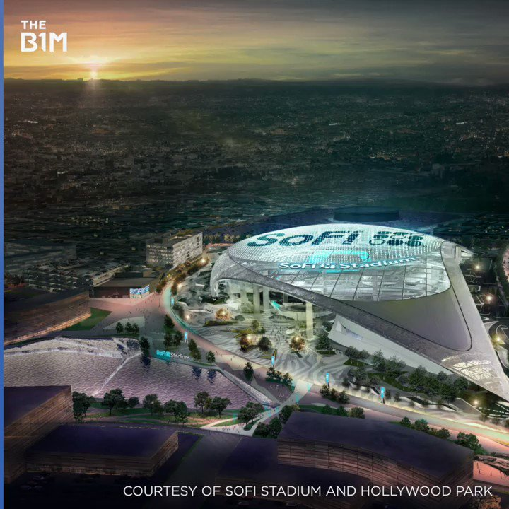Image for the Tweet beginning: The LA Rams' new home