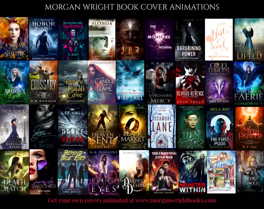 #WritingCommunity: Let's indulge in some mid-week #ShamelessSelfPromo😍!! Post your books with links below & RT each other for mutual support❤️ Some of my latest book cover animations!! Get your own covers animated here (there's a discount😁!!): morganwrightbooks.com/morgan-wright-…