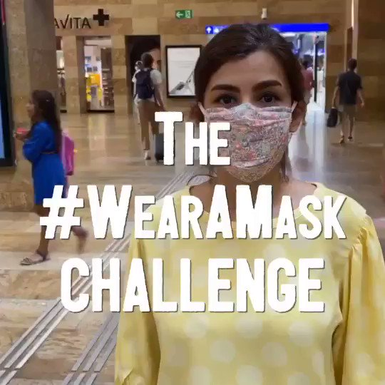 Join our new #WearAMask challenge & protect your loved ones from #COVID19. To break the chains of transmission, we must also: -Keep physical distance -Keep cleaning your 👐 -Keep away from big crowds -Keep covering your 👄&👃 when & cough 𝗗𝗼 𝗶𝘁 𝗮𝗹𝗹! https://t.co/9N2h1pBr5h
